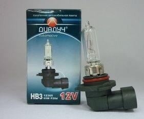 Лампа авто ДиаЛУЧ HB3 12V 65W P20d Головного света (#12365)