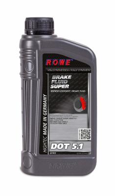 ROWE HIGHTEC Brake Fluid SUPER DOT5.1 (1л) Жидкость тормозная