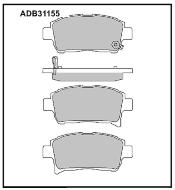 Колодки тормозные передние Nippon ADB31155 дисковые (Toyota Corolla 1,6 ZZE121 01-)