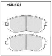 Колодки тормозные передние Nippon ADB31208 дисковые (Subaru Forester,Impreza WRX GD,GG 00-)